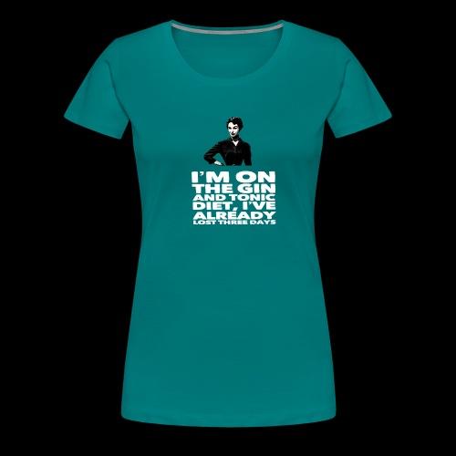 Funny Gin meme vintage lady retro design - Women's Premium T-Shirt