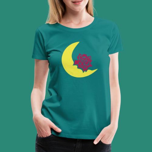 Mondblume svg - Frauen Premium T-Shirt