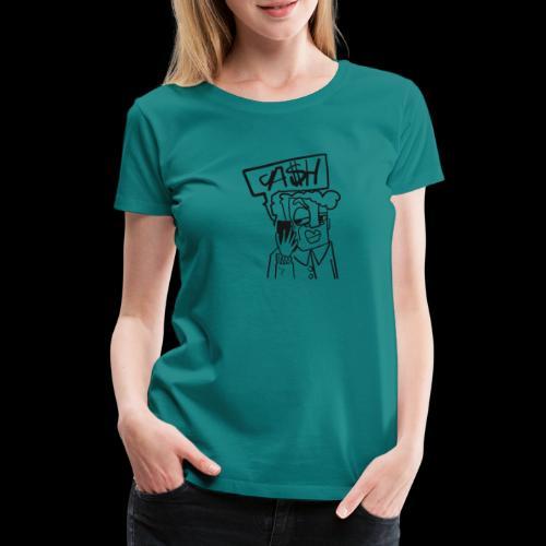 Cash on the phone - Vrouwen Premium T-shirt