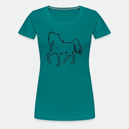 Proud Horse Outline - Women's Premium T-Shirt