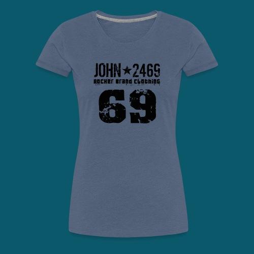 john 2469 numero trasp per spread nero PNG - Maglietta Premium da donna