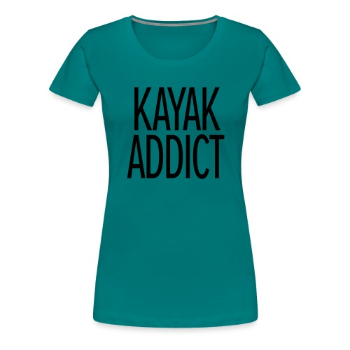 Kayak addict sweat-shirt Contraste - T-shirt Premium Femme