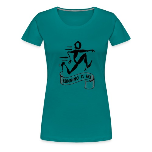 Running is Art - Vrouwen Premium T-shirt