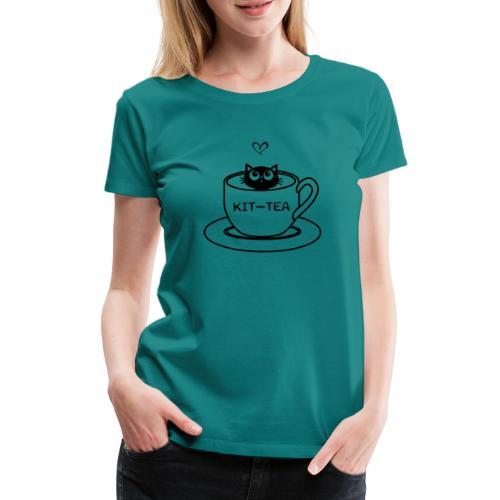 CAT TEA - T-shirt Premium Femme
