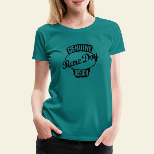 raredogdesign black - Dame premium T-shirt