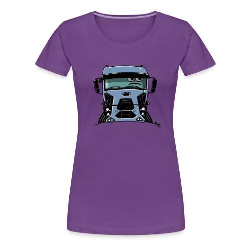 0812 F truck blue - Vrouwen Premium T-shirt