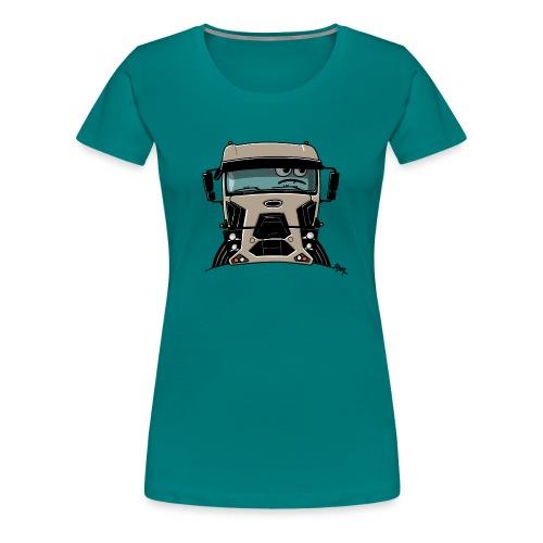 0812 F truck beige - Vrouwen Premium T-shirt