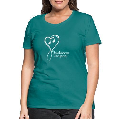 Unvollkommen einzigartig white - Frauen Premium T-Shirt