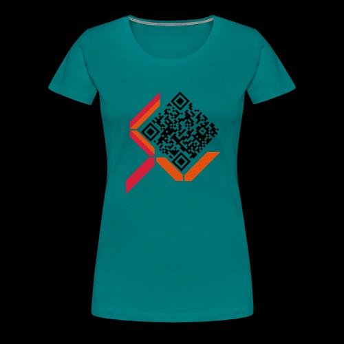 qrcodelogo - Frauen Premium T-Shirt