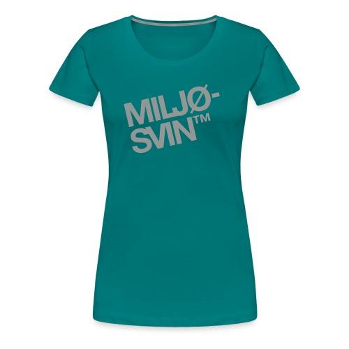 Miljøsvin (tm) - Det norske plagg - Premium T-skjorte for kvinner