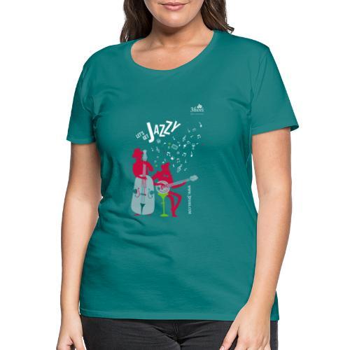 3Jazzy Blumen - Frauen Premium T-Shirt