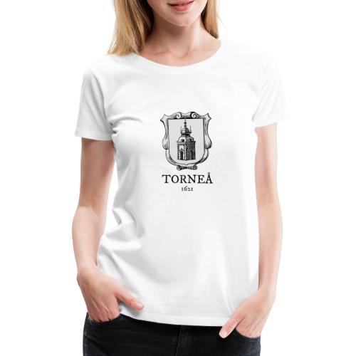 Tornea 1621 harmaa - Naisten premium t-paita