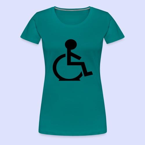 Rolstoel gebruiker met platte band - Vrouwen Premium T-shirt