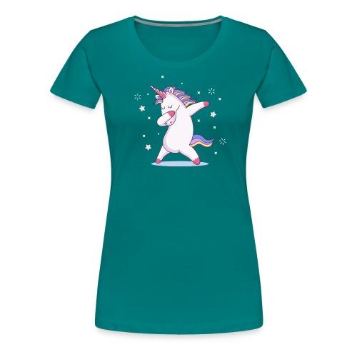 kids unicorn dab - Frauen Premium T-Shirt