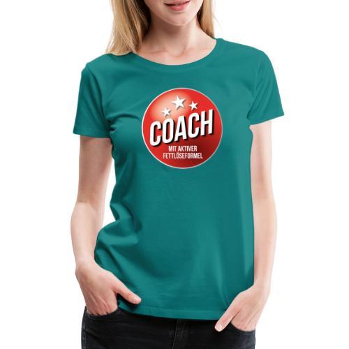 Fußball Coach Trainer Fett weg Soccer - Frauen Premium T-Shirt