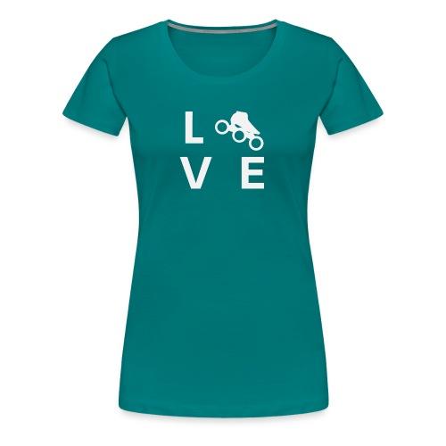 Speedskating Liebe - Frauen Premium T-Shirt