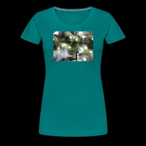 Blasen und Schwäne - Frauen Premium T-Shirt