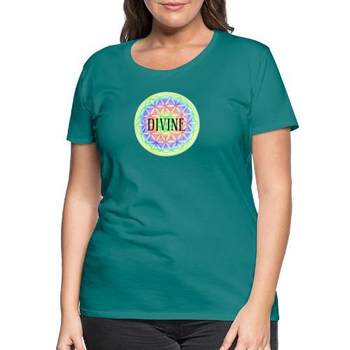 Mandala Blume des Lebens Divine, bunt - Frauen Premium T-Shirt