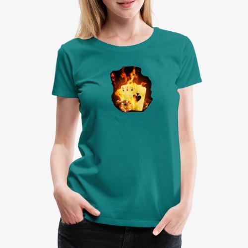 Flamme THE TEXAS HOLDEM - Frauen Premium T-Shirt