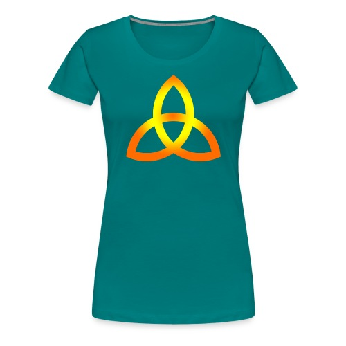 Orangegoldene Triquetra - Frauen Premium T-Shirt