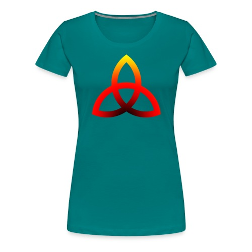 Feuriges Triketra Zeichen - Frauen Premium T-Shirt