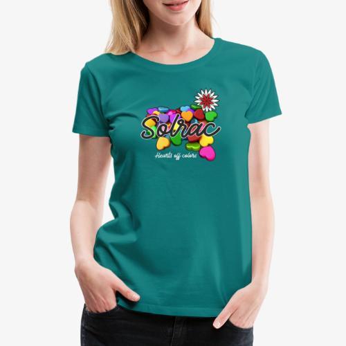 SOLRAC Hearts black - Camiseta premium mujer