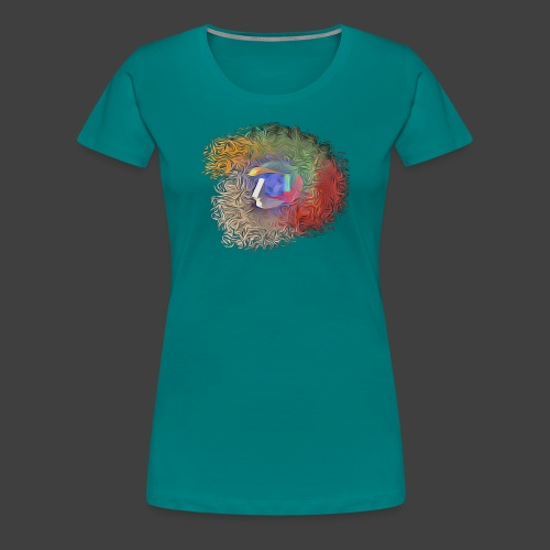 Brainwashing 3D - Women's Premium T-Shirt