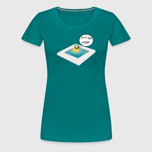 Pappagallo nella piscina - Maglietta Premium da donna