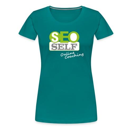 SEO SELF Logo mit weißer Subline - Frauen Premium T-Shirt