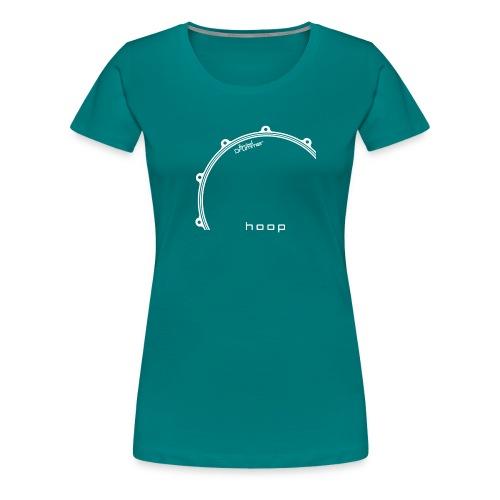 Hoop Design White - T-shirt Premium Femme