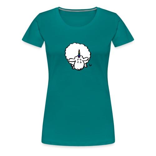 Ewenicorn - det er en regnbue enhjørning får! - Dame premium T-shirt