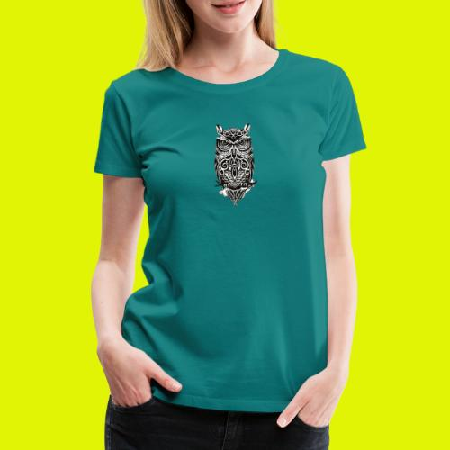 maglietta gufo - Maglietta Premium da donna