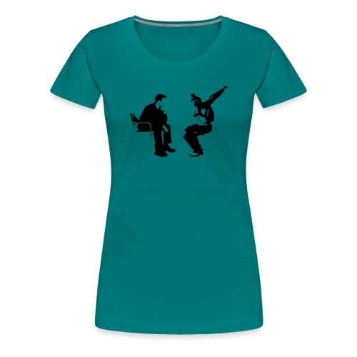 Parachutiste freefly - T-shirt Premium Femme
