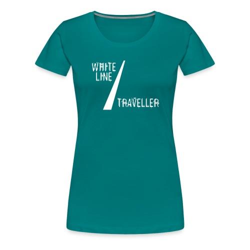 white line traveller - Vrouwen Premium T-shirt