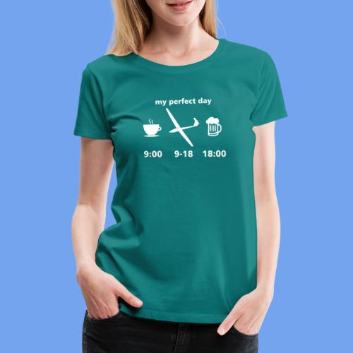 Tag Segelflieger perfekt Bier Segelflugzeug - Frauen Premium T-Shirt