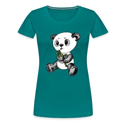 Panda Bär farbig scribblesirii - Frauen Premium T-Shirt