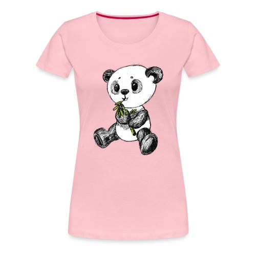 Panda bear colored scribblesirii - Women's Premium T-Shirt