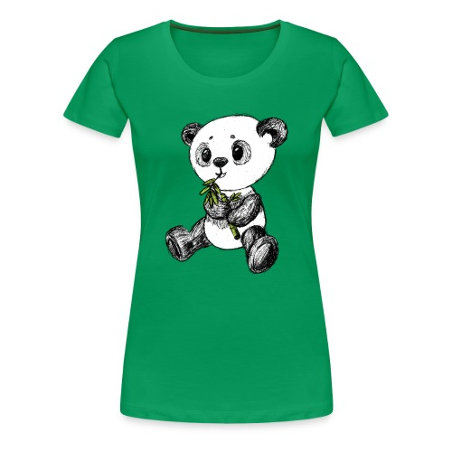 Panda bjørn farvet scribblesirii - Dame premium T-shirt