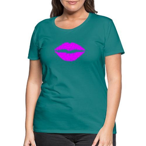 mund Lipen hel violet - Frauen Premium T-Shirt