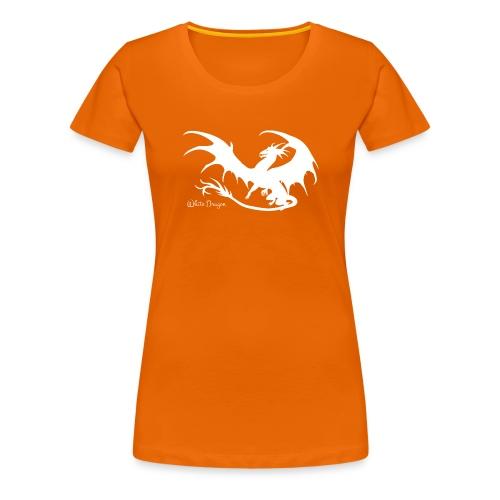 Weisser Drache - Frauen Premium T-Shirt