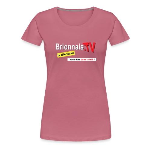 BTV logo shirt dos - T-shirt Premium Femme
