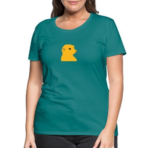 Erdmaennchen gelb schwarz - Frauen Premium T-Shirt