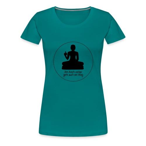 AA vorbei schwarz Kreis - Frauen Premium T-Shirt