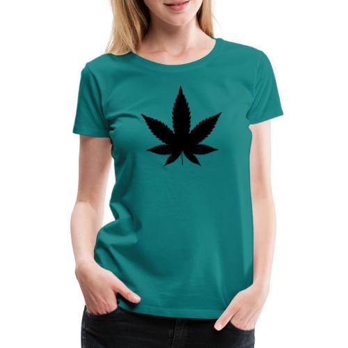 CannabisBlack - Frauen Premium T-Shirt