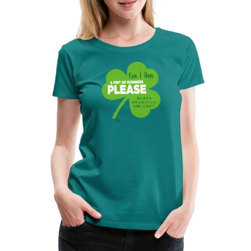 Pint help at the Rugby World Cup - Women's Premium T-Shirt