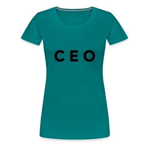 CEO LOGO BLACK - Women's Premium T-Shirt