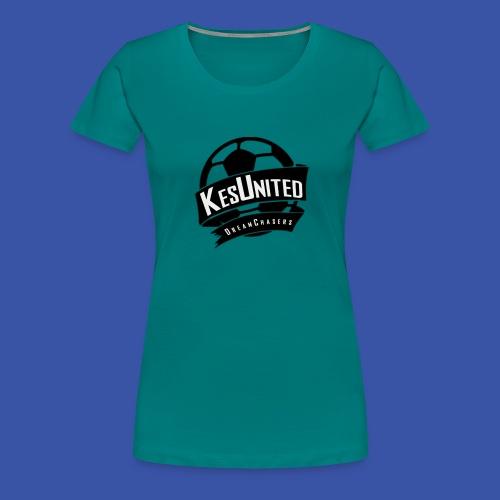 Zwart/Wit KesUnited - Vrouwen Premium T-shirt