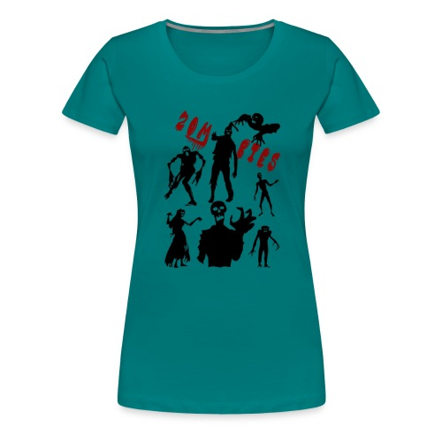 Zombies - Naisten premium t-paita