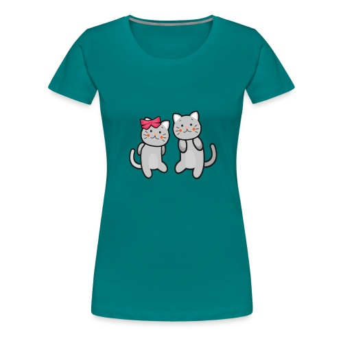 Kotki - Koszulka damska Premium