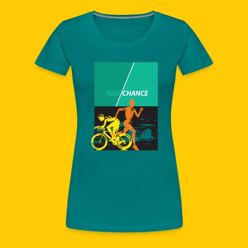 Triathlon New Chance - Frauen Premium T-Shirt